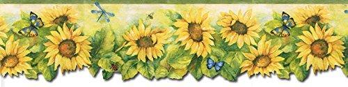 - Sunflowers Wallpaper Border BG71361DC by Norwall Wallcoverings
