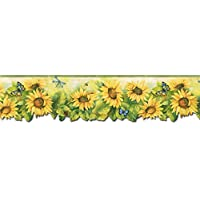 Sunflowers Wallpaper Border BG71361DC by Norwall Wallcoverings