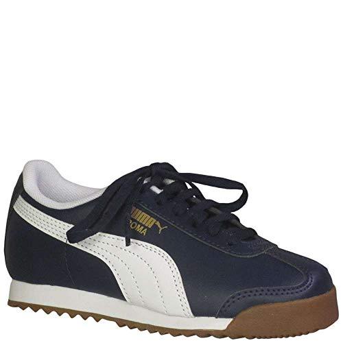 Puma Kid's Roma Basic PS Boys Fashion Sneakers Peacoat/Puma White/Puma Team Gold 1 Medium US Little Kid (Puma Roma Basic Kids)