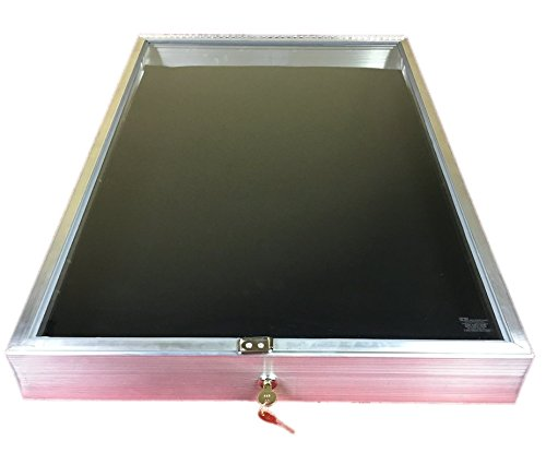 Southern Star Aluminum Display Case End Opening 22 x 34 x 31/4 Knives Cards Gun Jewelry & More #1170 (Black)