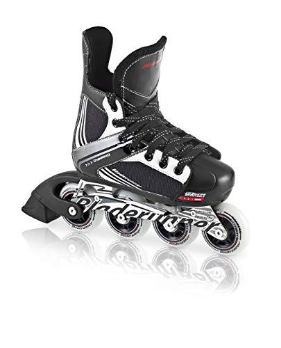 Bladerunner by Rollerblade Dynamo Jr Size Adjustable Hockey Inline Skate, Black and Red, Inline Skates (Renewed) ()