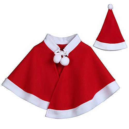 Goddessvan Kids Childrens' Christmas Shawl,Christmas Costume Cosplay Cape Cloak for Baby Boys Girls Clothes ()