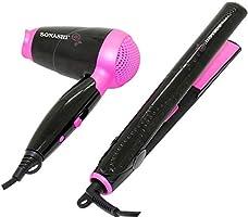 Sonashi Hair Dryer & Hair Straightener Set SBS 200, Black