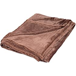 Internet's Best Plush Throw Blankets | Café (Brown) | Ultra Soft Couch Blanket | Light Weight Sofa Throw | 100% Microfiber Polyester | Easy Travel | Bed | 50 x 60