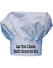 CoolChefHats Hardly Anyone Got Sick Funny Chef Hat, White, One Size Fits All