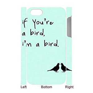 Cool Painting Bird Customized 3D Cover Case for Iphone 4,4S,custom phone case case567760