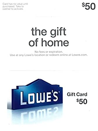 Amazon.com: Lowe's $50 Gift Card: Gift Cards
