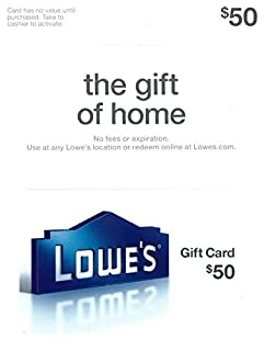 Lowe's $50 Gift Card (B0078EPRVS) | Amazon Products