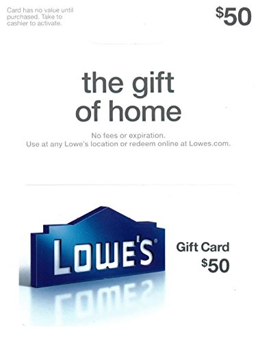 Lowe's $50 Gift Card (Best Place To Sell Gift Cards In Person)