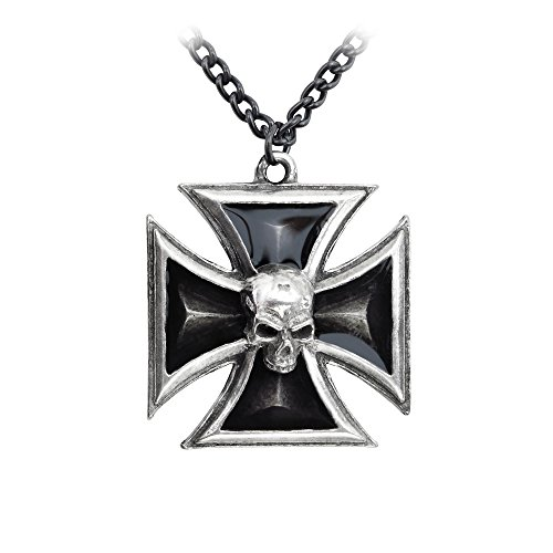 Black Knight's Cross of Your Dastardly Deeds Gothic Necklace