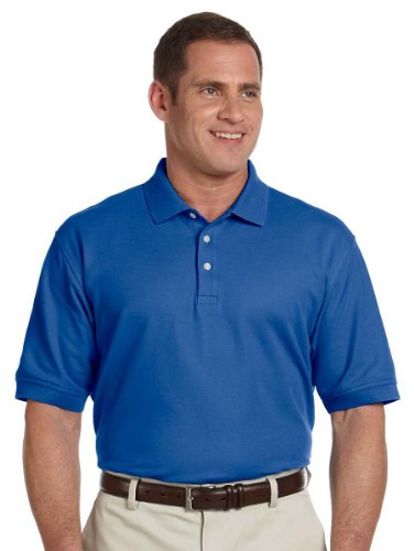 Devon & Jones Men's Pima Pique Polo Shirt, True Royal, X-Large - Mens Pima Pique Polo