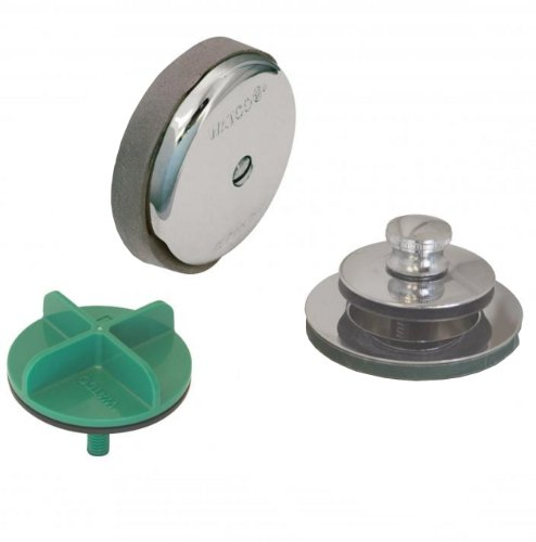 Watco Manufacturing 901-PP-ABS-CP 1.5-Inch Schedule 40 ABS Piping Innovator Push Pull Bath Waste Half Kit, Chrome Plated (Bathtub Drain Half Kit)