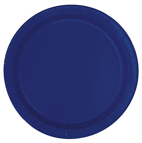 (Navy Blue Paper Cake Plates, 20ct)