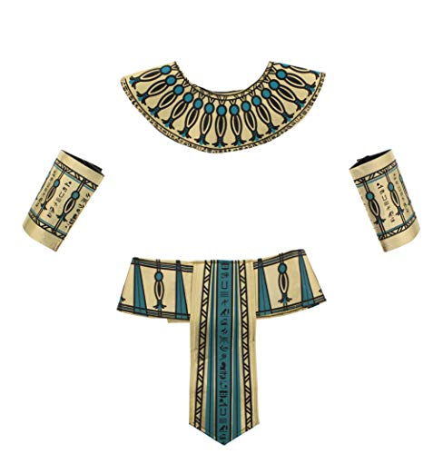 Zac's Alter Ego® 4 Piece Fancy Dress Gold & Turquoise Pharaoh Egyptian -