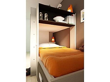 Hochbett Etagenbett Julien : Kinderbett hochbett etagenbett julien 2x90x190cm weiß & braun