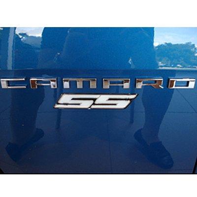 Camaro White SS Fender Emblem
