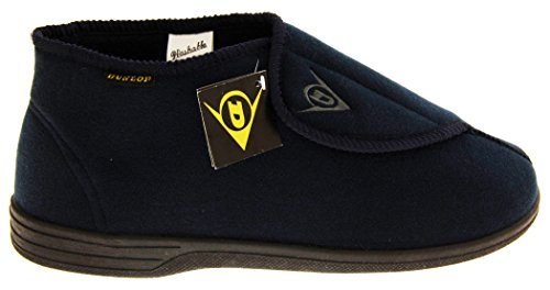 Dunlop Mens DMH7595 Adjustable Touch Fastening Orthopaedic Boot Slippers Navy Blue blC6qLcdf5