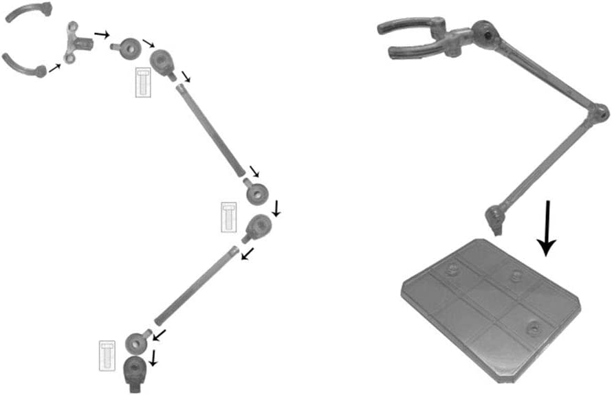 RG Gundam Figure Model Toy Negro Transparente Ocamo Action Base Clear Display Stand para 1//144 HG