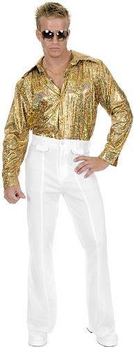 Disco Pants Adult Costume White - 42 ()
