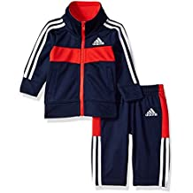 adidas Baby Boys Jacket Set, Navy, 3M