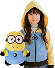 Cubcoats Bob The Minion - 2-in-1 Transforming Hoodie and Soft Plushie - Minion Yellow