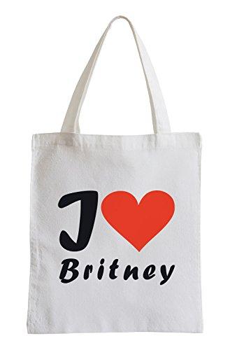 Amo Britney Fun sacchetto di iuta