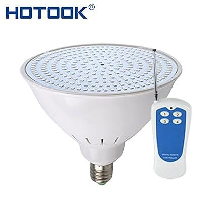 AC 12V Warm White, 18W : HOTOOK Underwater Lights E27 E26 PAR56 LED Pool Light