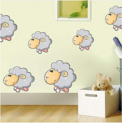 Wall Stickerwall Sticker Mural Cartoon Animal Sheep Color Wall Stickers for Kids Rooms Decoration Cute Sheep Removable Wallpaper Wall Decals Nursery Home Decor
