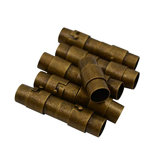REVEW 10sets Retro Bronze End Clasps for Jewelry Clasps for Leather Jewelry Making Magnetic Bracelet Clasp Magnetic Leather Cord End (6-10)