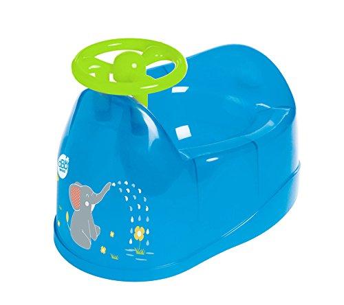 dBb Remond Pot bebé Décor elefante con volante azul translúcido SEBBE 304366