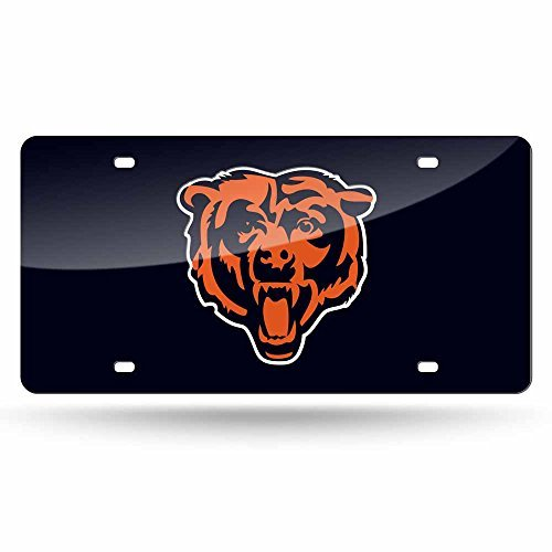 - NFL Chicago Bears Laser Inlaid Metal License Plate Tag