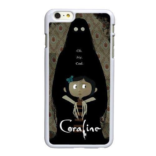 J1I75 Coraline R4C8OH coque iPhone 6 Plus de 5,5 pouces cas de couverture de téléphone portable coque blanche XD6WSF0KF