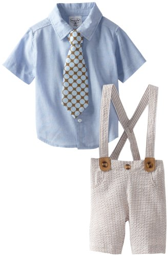 3 Piece Blue Seersucker Easter Suit Set for Babies and Toddlers