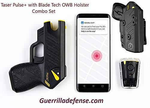 High Voltage Tactical TASER Pulse+ Blade Tech Holster Combo (Newest Taser Pulse Model)