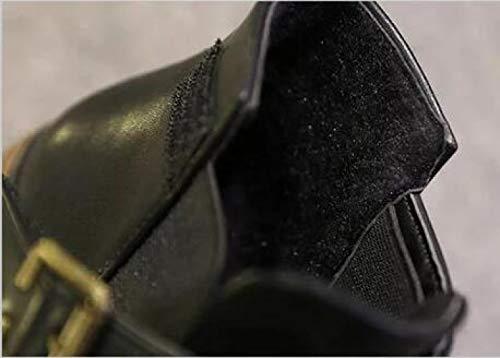 Cintura Cintura Martin Fibbia Stivaletti Con Alla Da Da Donna Grey Boots v4OCX