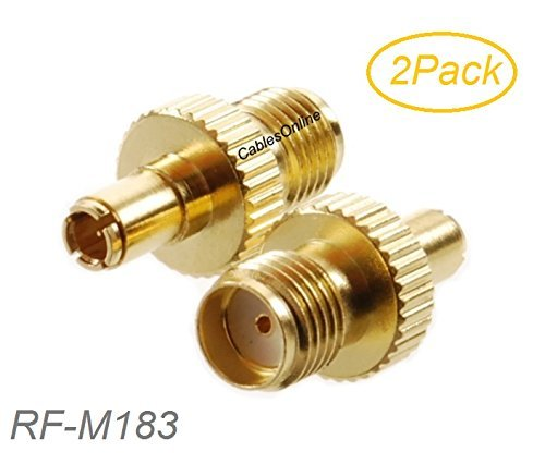 TS9 Male to SMA Female Gold RF Adapter (2 Pack)
