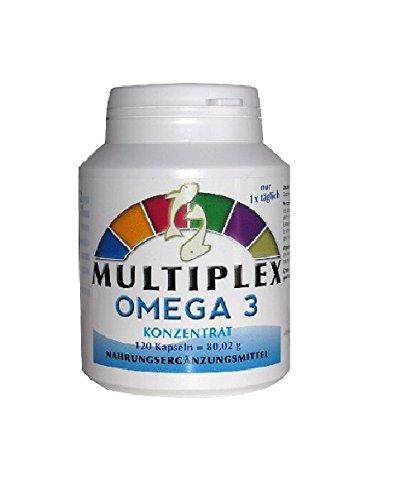 Multiplex Complejo Vitamínico Omega 3 470mg 120 Cápsulas - Vita World: Amazon.es: Salud y cuidado personal