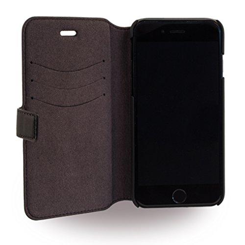 Ferrari Lusso Book Case Black/Silver for iPhone 7