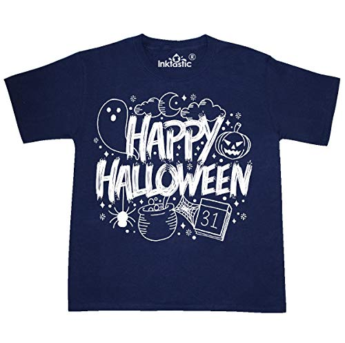 inktastic - Halloween Doodle Youth T-Shirt Youth X-Large (18-20) Navy 369f2]()