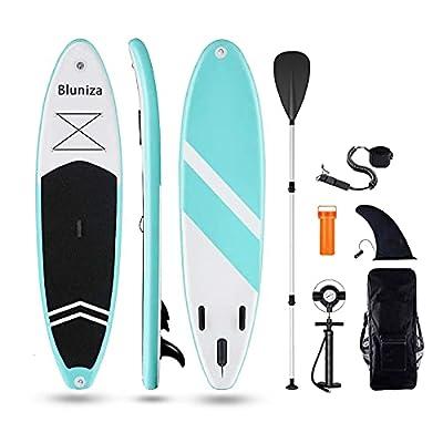 "10'/10'5''/10'6"" Aufblasbares Stand Up Paddel Board - SUP Board Set | 6 Zoll Dick | Surfboard Wassersport | inkl. Tasche/Paddel/Finne/Luftpumpe/Repair Kit/Anfänger und erfahrene Leute Entwickelt"