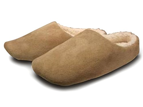 Snookiz Microwave Heated Faux Suede Furry Brown Mens Slippers (Men's Medium (Size 10/11 US - 43/44 (Microwave Heated Slippers)