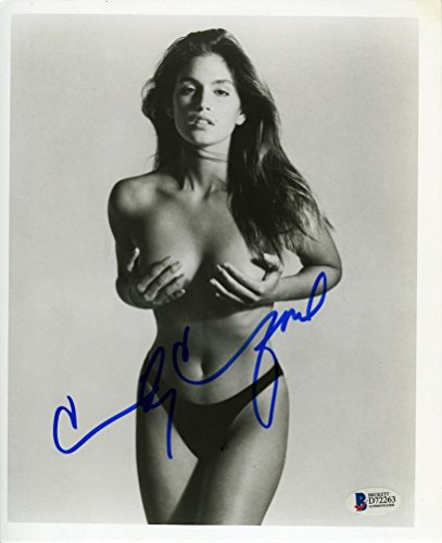 Cindy Crawford Topless Signed 8x10 Photo Certified Authentic Beckett BAS COA (Cindy Crawford Photos)