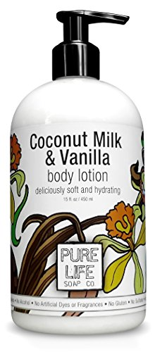 Pure Life Body Lotion, Coconut and Vanilla, 15 Fluid Ounce