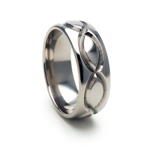 8mm INFINTITY Titanium Ring Wedding Band (Available in Sizes 4-17)