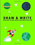 Draw and Write: Kids Art Story Book For Creative Fun, Lime Green (Creative Writing for Kids)