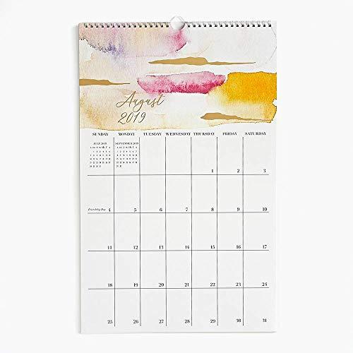 2019-2020 Foil Watercolor Calendar (Paper Source Wall Calendar)