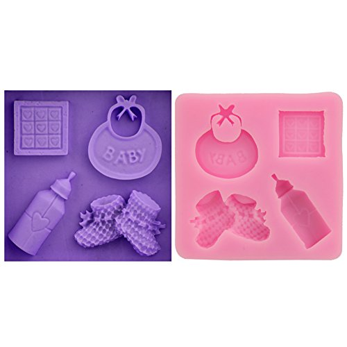 Let'S Diy Baby Bottle And Shoes Design Shape Fondant Cake Decoration Silicone Baking Tray Chocolate Candy Jelly (Adult Simple Halloween Costumes)
