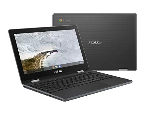 Asus Chromebook Flip C214MA-YS02T-S Ruggedized and Water Resistant Chromebook Laptop, 11.6″ 360 Touchscreen 2 in 1, Intel N4000, 4GB LPDDR4 RAM, 32GB Storage, Mil-Std 810G Design, Chrome OS, Stylus