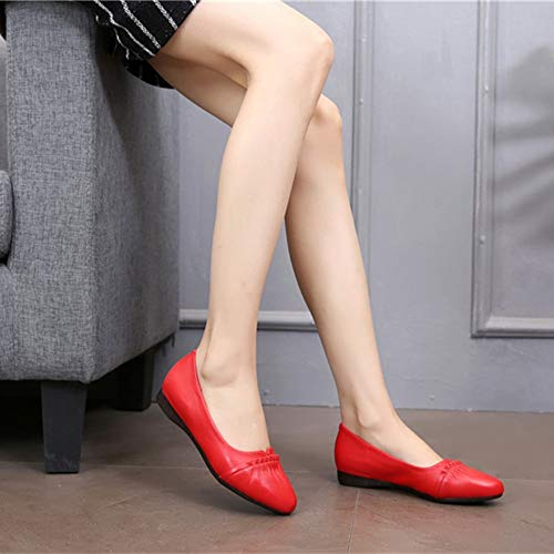Shoes D Shoes Work Comfort Leather Soft Office Maternity Ms Sole FLYRCX Flats Shoes Fashion Casual E6ZxXnwzfq