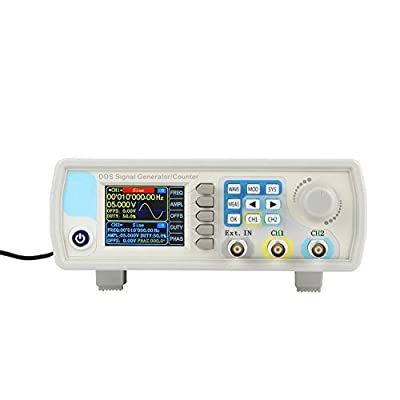 JDS6600 DDS Signal Generator Counter Dual Channel Digital Control Sine Frequency AC100-240V(15MHz US Plug)